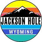 Jackson Hole Wyoming Skiing Colorful Ski Mountains by MyHandmadeSigns