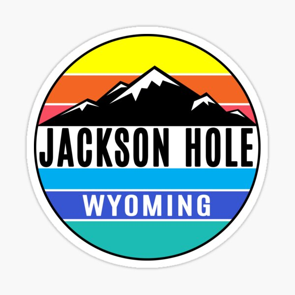 Jackson Hole Wyoming Skiing Colorful Ski Mountains Sticker