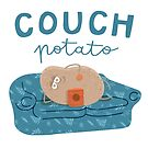 Potato chilling on the couch eating snacks by VectoryBelle