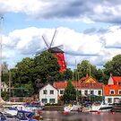 Strängnäs Sweden Windmill by Barry W  King