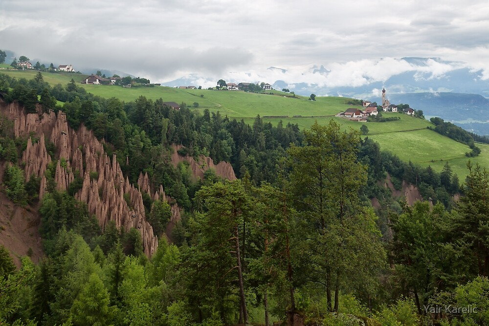 Earth Pyramids at Longomoso by Yair Karelic