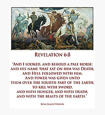 PALE RIDER, Four Horsemen of the Apocalypse, Book of Revelation Photographic Print