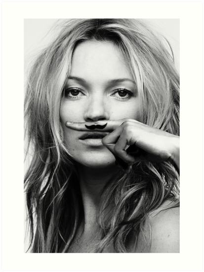 Kate Moss - Life is a joke fashion print by Natalie Digital Cloud