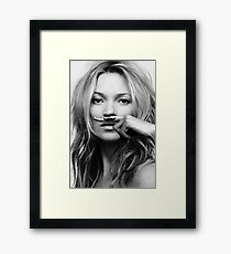 Kate Moss - Life is a joke fashion print Framed Print