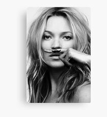 Kate Moss - Life is a joke fashion print Canvas Print
