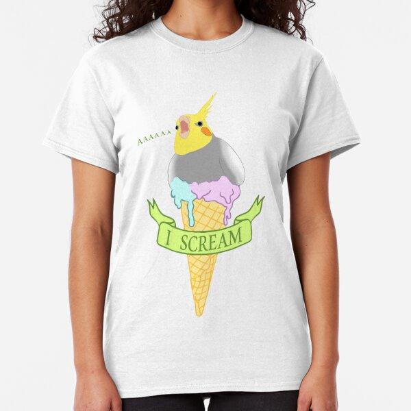 I scream - ice cream cockatiel Classic T-Shirt