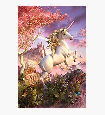 Lámina fotográfica Impresionante Unicornio