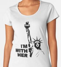 Statue of Liberty - I'm With Her Women's Premium T-Shirt