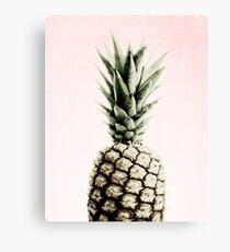 Pineapple modern, fruit, pink Canvas Print