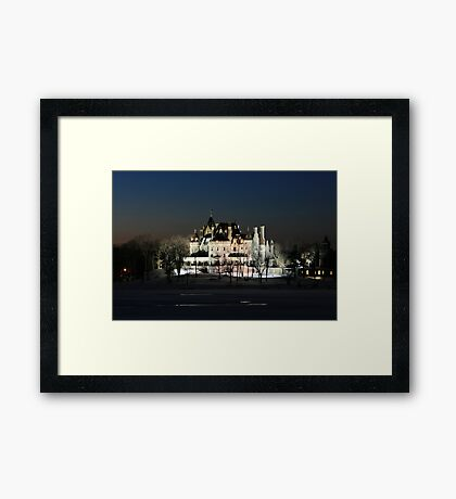 FROZEN BOLDT CASTLE Framed Print