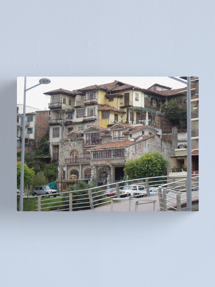 Alternate view of Architectural Patchwork Canvas Print