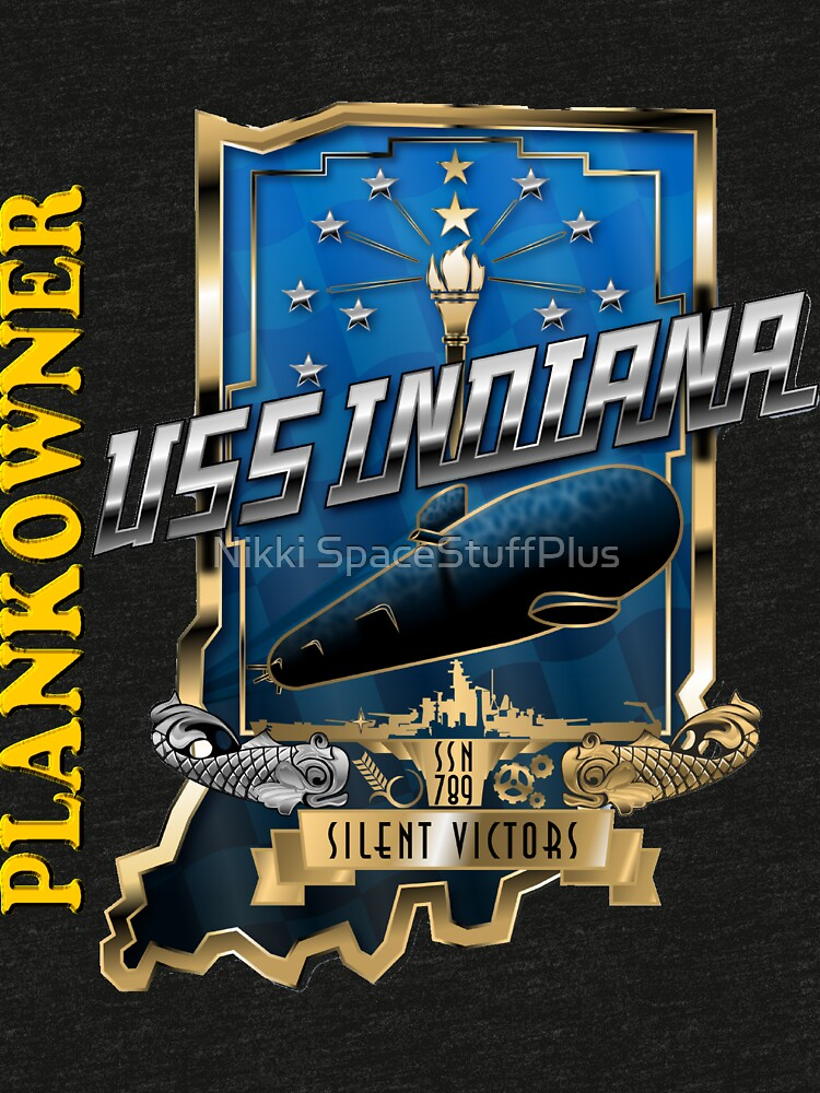 SSN-789 Plankowner Crest for Dark Color Clothing by Spacestuffplus