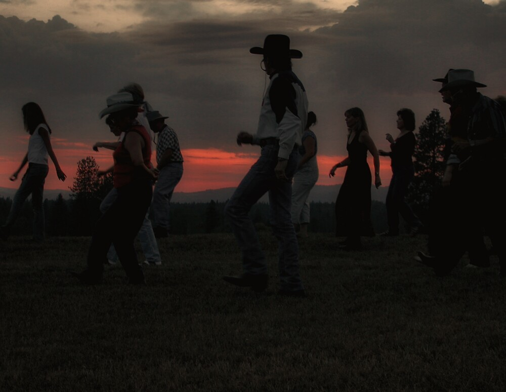Line Dancing In The Meadow by dougf
