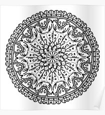 Love Mandala - Black Poster