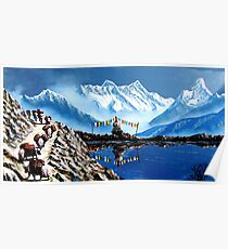 Panoramic View Of Annapurna Mountain Nepal Poster