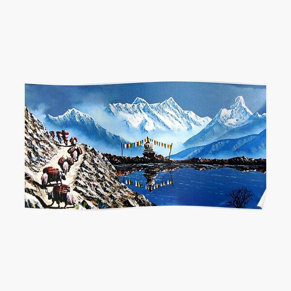 Vue panoramique de l'Annapurna Mountain Nepal Poster