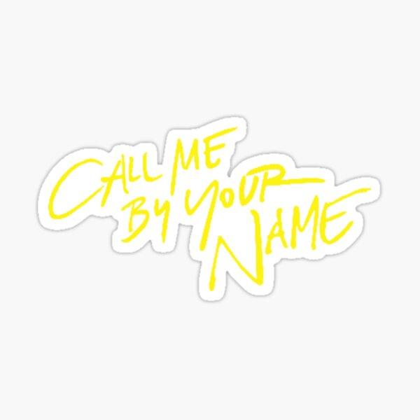 Appelez-moi par votre nom Sticker