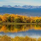 Golden Rocky Mountain Front Range View by Bo Insogna