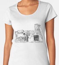 Birmingham Rotunda and skyline Women's Premium T-Shirt