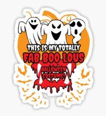 My Totally Fab BOO Lous Halloween Costume Sticker