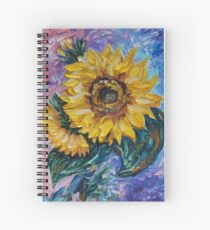 That Sunflower From The Sunflower State by OLena Art - brand  Spiral Notebook