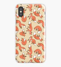 Red Autumn Foxes, Woodland Creature Fall Foxes iPhone Case/Skin