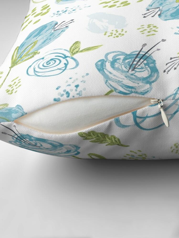 Alternate view of Turquoise Twist Throw Pillow