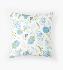 Turquoise Twist Throw Pillow