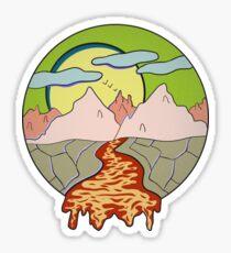 Dripping river of lava Sticker