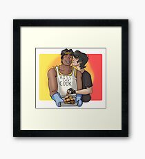 KISS THE COOK! Hunk x Keith Framed Print