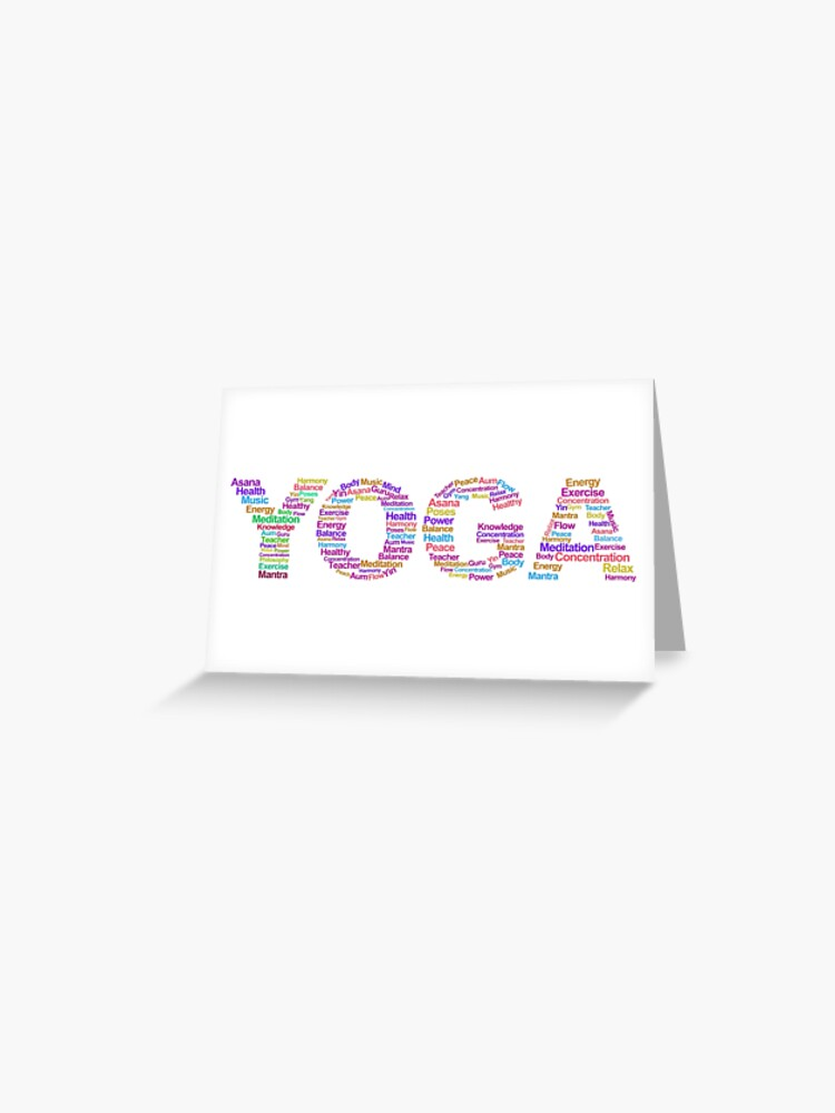 Yoga Teacher Instructor Gifts Yoga Description Logo Great Yoga Gift Ideas Greeting Card By Merkraht Redbubble