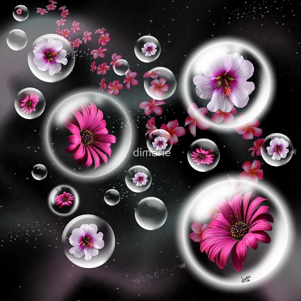 Le coeur et l'essence de la fleur rose by dimarie