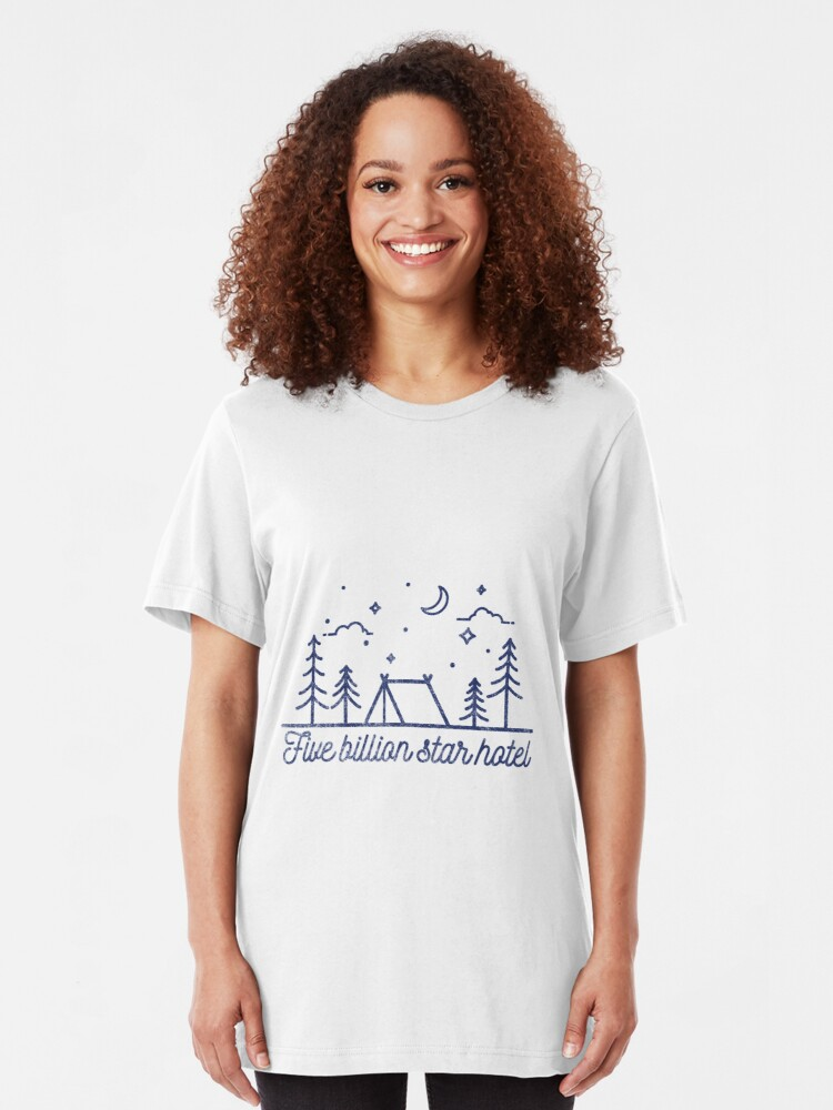 Alternative Ansicht von Tent Camping: Five Billion Star Hotel Slim Fit T-Shirt
