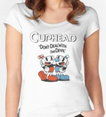 Cuphead, Don't Deal With The Devil Women's Fitted Scoop T-Shirt