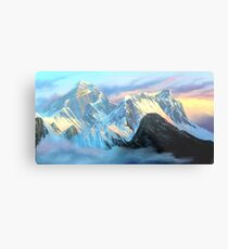 Panoramic Sunrise View Of Everest Mountain Metal Print