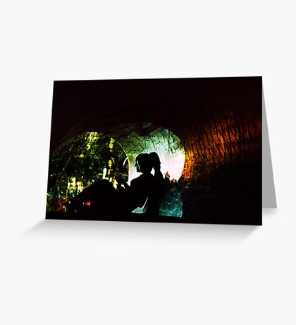 Cracked Tunnel Greeting Card