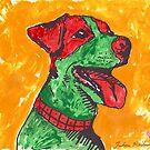 Green Jack Russell Terrier by Juhan Rodrik