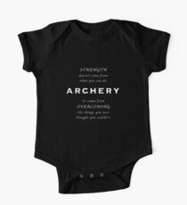 Archery Inspirational Quote Kids Clothes