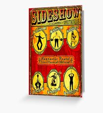 SIDESHOW SPECTACULAR; Vintage Circus Advertising Print Greeting Card