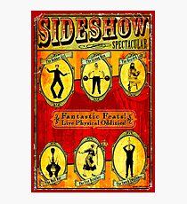 Lámina fotográfica VISTA INDICATIVA ESPECTACULAR; Publicidad publicitaria de circo vintage
