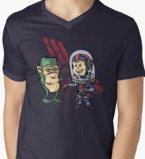 SpaceKid and Shortstack Scroggins of Planet Miniscule 4 Mens V-Neck T-Shirt