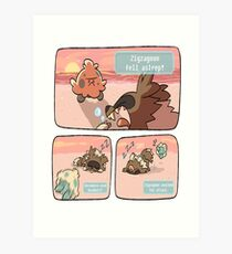 pokemon funny scene Art Print