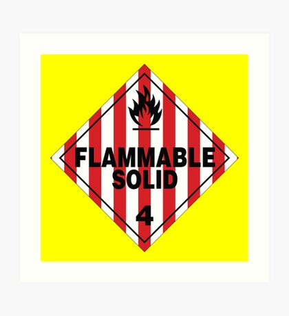 Flammable Solid Art Print