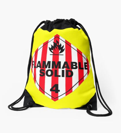 Flammable Solid Drawstring Bag