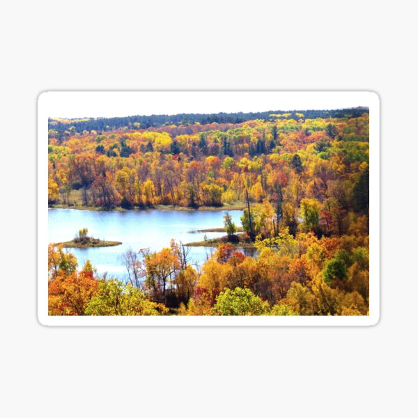 Breathtaking Autumn View from Itasca State Park's Fire Tower Sticker