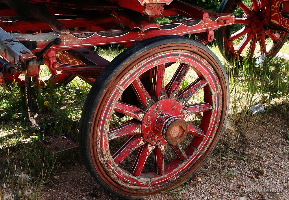 Red Wagon by GesturesPhoto