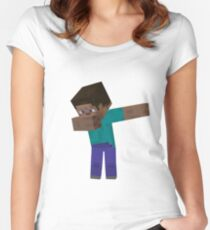 MINECRAFT DAB!! Women's Fitted Scoop T-Shirt