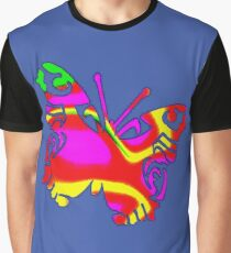 Coloured Butterfly Design Graphic T-Shirt