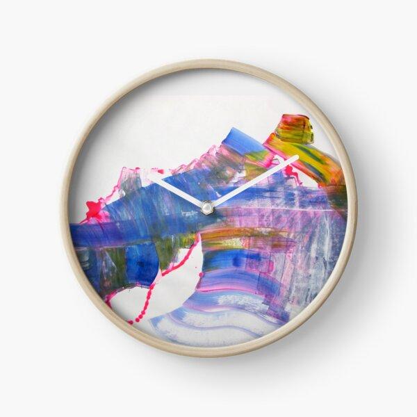 Beauty is but skin-deep - Original Wall Modern Abstract Art Painting Clock
