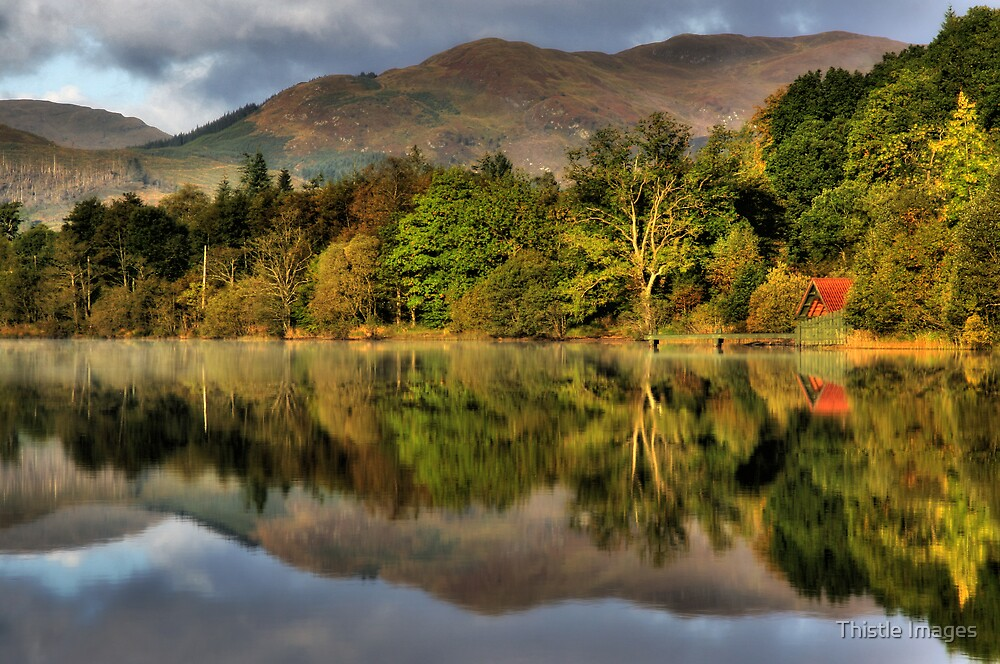 Autumn colours at Loch Ard by Thistle Images